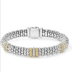 Lagos Caviar Lux diamond bracelet- like new!